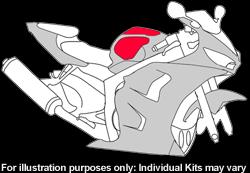 Kawasaki - ZX - 6R (600) - 2000 - 2003 - DIY Tank Kit-0