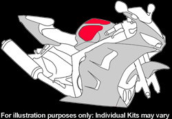 Kawasaki - ZX - 6R (636) - 2003 - 2004 - DIY Tank Kit-0